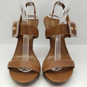Lauren Ralph Lauren Shoes - Ralph Lauren LRL 10 M Brown Strappy Open Toe Women